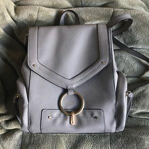 Zara grey mini ring backpack